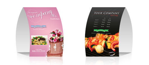 X Folded Table Tent Card Printing Full Color Printing - Table tent card printing